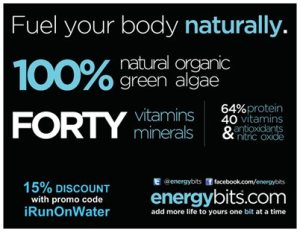Don't forget to use the code IRunonWater when ordering for your discount.