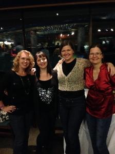 VIP Ladies at Niagara Falls: Jodi (http://2princessesontherun.wordpress.com), Laural (http://runningabalance.com), me, and Rachael (http://rachaelwellsart.tumblr.com)