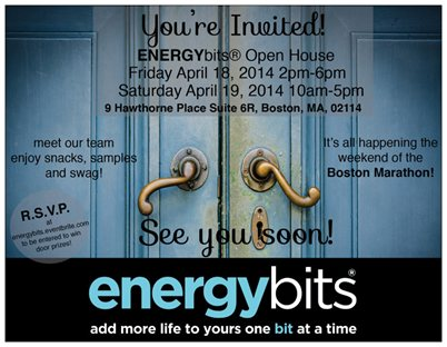 ENERGYbits Boston Office Open House Invitation April 18-19 2014